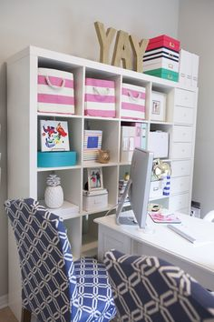 colorful home office | Shay Cochrane