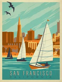San Francisco Sail Boats - This new addition to the Art & Soul of America Collection celebrates the beautiful coastline view of San Francisco, CA.
