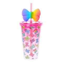 JoJo Siwa Rainbow Bow Tumbler Cup
