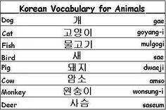 Korean Words for Animals