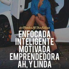 Una mujer de verdad y las cosas claras. #anabelycarlos #enfocada #motivada #inteligente