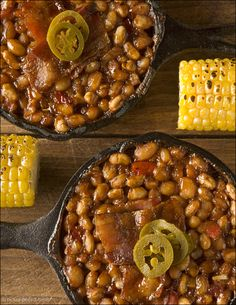 Blazin' Baked Beans - it's the spicy chipotle pepper and molasses that give these easy barbecued baked beans sweet heat.
