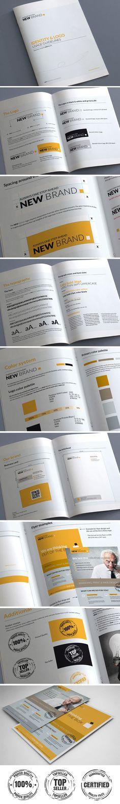 Brand Guidelines by Andrea Maisenbacher, via Behance