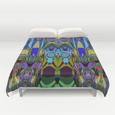 Colourful fantasy patterns Duvet Cover