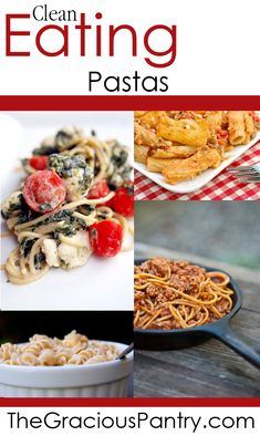 Clean Eating Pasta Recipes.  #cleaneatingrecipes #cleaneating #eatclean #pasta #pastarecipes
