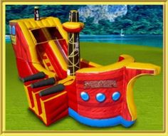 This is what I call a Pirate Bounce House!
