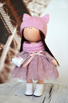 Handmade doll Rag doll Tilda doll Art doll por AnnKirillartPlace