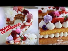 PASTEL EN TENDENCIA 2018 DE NUMEROS - VEROSWEETHOBBY - YouTube Cheap Clean Eating, Clean Eating Snacks, Fruit Biscuits, Cream Biscuits, Alphabet Cake, Cold Cake, Biscuit Cake, Number Cakes, Salty Cake