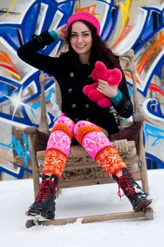 Unique woolen Muhu stockings by CrazyEda on Etsy, €300.00