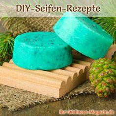 Seife herstellen - Seifen-Rezept: Körperseife mit Peelingeffekt und Tannenduft - Zum Wegrubbeln abgestorbener Hautschuppen braucht es eine schöne Peelingseife ...