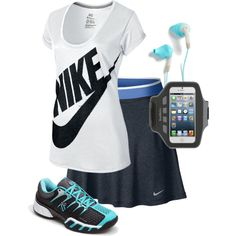 """""""Exercising in Blue"""" by modest-16 on Polyvore"""
