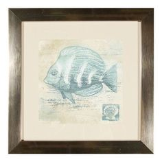 PTM Fishy II Framed Graphic Art Print