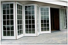 I love this idea Folding Patio Glass Bifold Doors Exterior & Iu0027d love these doors instead of our living room window. (to get out ...