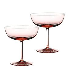 Monique Lhuillier Waterford Blush Champagne Coupes