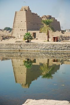 Karnak Temple, Egypt : The Karnak Temple Complex comprises a vast mix of decayed temples, chapels, pylons and other buildings. Building at the complex began during the reign of Sesostris I in the Middle Kingdom and continued into the Ptolemaic period.