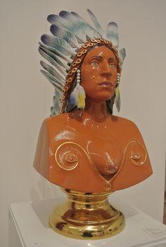 Luigi Ontani al MIC, sala delle ceramiche contemporanee