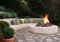 Fire Pit Seating, Fire Pit Area, Patio Seating, Fire Pits, Seating Areas, Large Fire Pit, Round Fire Pit, Fire Pit Backyard, Backyard Patio