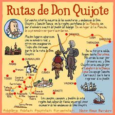 """Néstor A. Arrukero (@xardesvives) sur Instagram : """"Rutas de Don Quijote. #quijotefacts #cervantesfacts #edupíldoras #edufacts"""""""