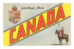- Greetings from Canada postcard Vintage Travel Posters, Vintage Postcards, Posters Canada, Canadian Culture, Canadian Travel, Canada Images, Poster Prints, Art Prints, Sale Poster