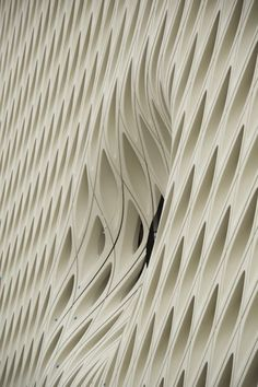 The Broad Museum by Diller Scofidio + Renfro ,Los Angeles, steel and 2500 gfrc panels Parametric Architecture, Parametric Design, Facade Architecture, Amazing Architecture, Contemporary Architecture, Geometry Architecture, Building Skin, Building Facade, The Broad Museum