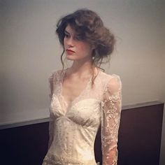"""""""Soft , gorgeous and very romantic . That was the feel of the hair, dress and make up ! Fall Wedding Dresses, Wedding Dress Styles, Designer Wedding Dresses, Claire Pettibone, Bohemian Bride, Fashion History, Stylists, Wedding Inspiration, Lace"""