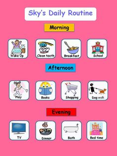 Daily Visual Schedule For Kids Free Printable Visual