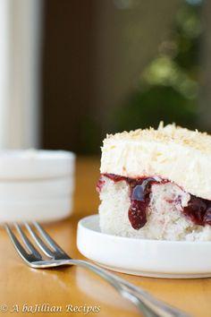 Raspberry Coconut Poke Cake
