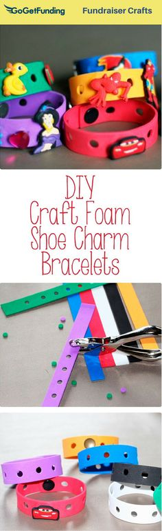 How To Make Craft Foam Shoe Charm Bracelets For Showing Off Croc Charms Also Known As Jibbitz There Would A Great Party Favor When