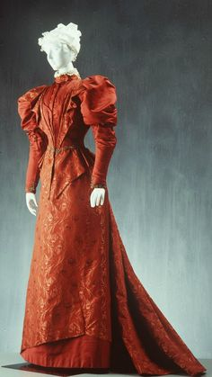 1895 Day Dress, David Jones Pty Ltd (Sydney, New South Wales, Australia): ca. 1890-1900, silk brocade, faille, glass beads, sequins.