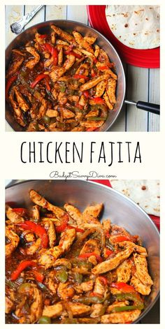 This is THE BEST Chicken Fajita Recipe EVER! My family cannot wait till I make it again - done in UNDER 30 minutes - Must make weekday meal - Chicken Fajita Recipe (Chicken Fajitas Rice) Authentic Mexican Recipes, Mexican Food Recipes, Dinner Recipes, Mexican Desserts, Chicken Fajita Rezept, Chicken Recipes, Recipe Chicken, Mexican Chicken Fajitas, Chicken Fajitas Seasoning