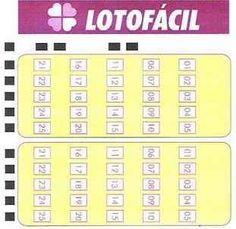 Super Esquema da Lotofácil=> Loterias – Últimos Resultados
