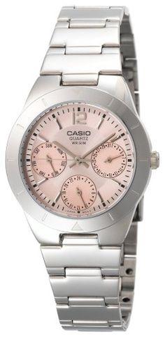 2e1325ebe49a Women s Wrist Watches - Casio Womens LTP2069D4AV Calendar Subdials  SilverTone Analog Quartz Watch  gt  gt