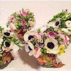 cotton flower arrangement on wall - Google Search