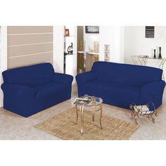 Comprar Capa de Sofá lisa Bell - Tecido Malha Gel - Jogo 2 e 3 Lugares - Azul com entrega rápida e segura. Conheça a nossa loja.