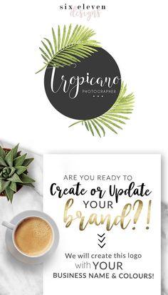 275 Tropicano LOGO Premade Logo Design Brand Blog Header, Logo Design, Premade Logo, Branding, Blog Header, Business Logo, Photography, Boutique, Shop, Jewellery, Website,