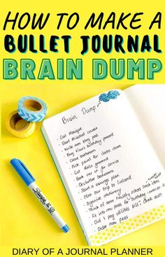 Keep track of all your random thoughts with a bullet journal brain dump page. Find the best ideas and how-to guide to create your own. #bulletjournalideas #braindump #bujo #bulletjournallayouts #planneraddict