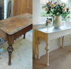 Make over old furniture to make an impact in your hallway