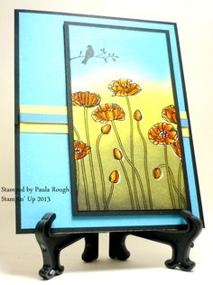 Brock's Birthday Pleasant Poppies by atpaulasplace - Cards and Paper Crafts at Splitcoaststampers