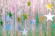 fondos Simple stars and fringe for a photo backdrop - perfect for a disco themed party