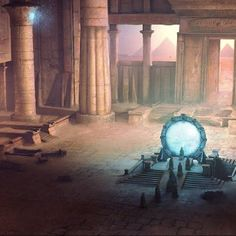 Fantasy Art: Stargate<--- cool? where's the video game that was downloadable then not then downloadable again? idk
