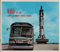 1960's JFK Nasa Tours At The John F. Kennedy Space Center Souvenir Book