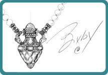 Barbara Bixby Cultured Pearl & Gemstone Perfume Bottle Necklace — QVC.com