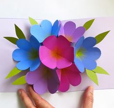 by Martha Stewart: pop up flower card. Perfect for mother's day or instead of real flowers, send them through a card. Great idea> TO SEE My VERSION visit me at my blog: http://stampingwithbibiana.blogspot.com/