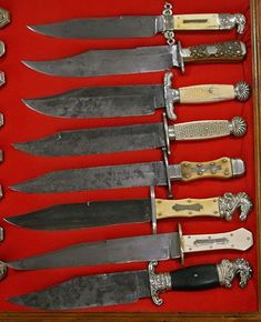 The Antique Bowie Knives - examples Knife History and Historical Events