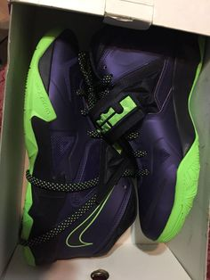83fd42d22c78 Nike Zoom Lebron James Soldier 7 VII Purple Green black MENS sz 10  fashion   clothing  shoes  accessories  mensshoes  athleticshoes (ebay link)