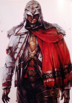 """One more Connor pic from """"The Art of The Assassin's Creed III"""" book. Character Art, Character Design, Character Concept, Connor Kenway, Assassin's Creed Brotherhood, All Assassin's Creed, Assassins Creed Art, Templer, Fantasy Male"""