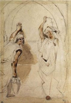 Eugene Delacroix, Two Women at the Well, 1832