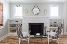 Before & After: A Labor of Love for a Designer and Contractor   Design*Sponge - Built-ins and fireplace surround