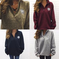 Our Heathered Ella Quarter Zips are now available!!! ☺️✌