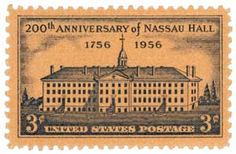 Picture of This is Vintage 1956 canceled US stamp Nassau Hall stock photo, images and stock photography. Old Stamps, Vintage Stamps, Stamp Values, Number Stamps, Nassau, Stamp Collecting, My Stamp, Vintage World Maps